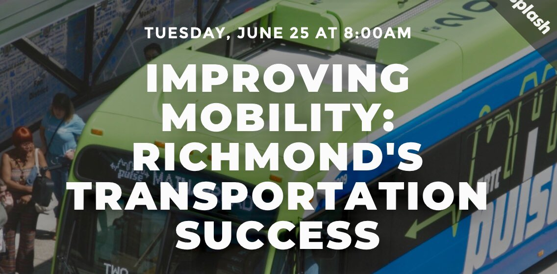 This Tuesday at 8:00 @ChamberRVA & @RVARapidTransit present a panel discussion on #Richmond's improving mobility at @ICAVCU featuring Mayor @LevarStoney & speakers from @VirginiaDRPT, @GRTCTransit, @VCU, @GW_Partnership & @T4America. 🚌💨 RSVP here: http://bit.ly/2X0Snje