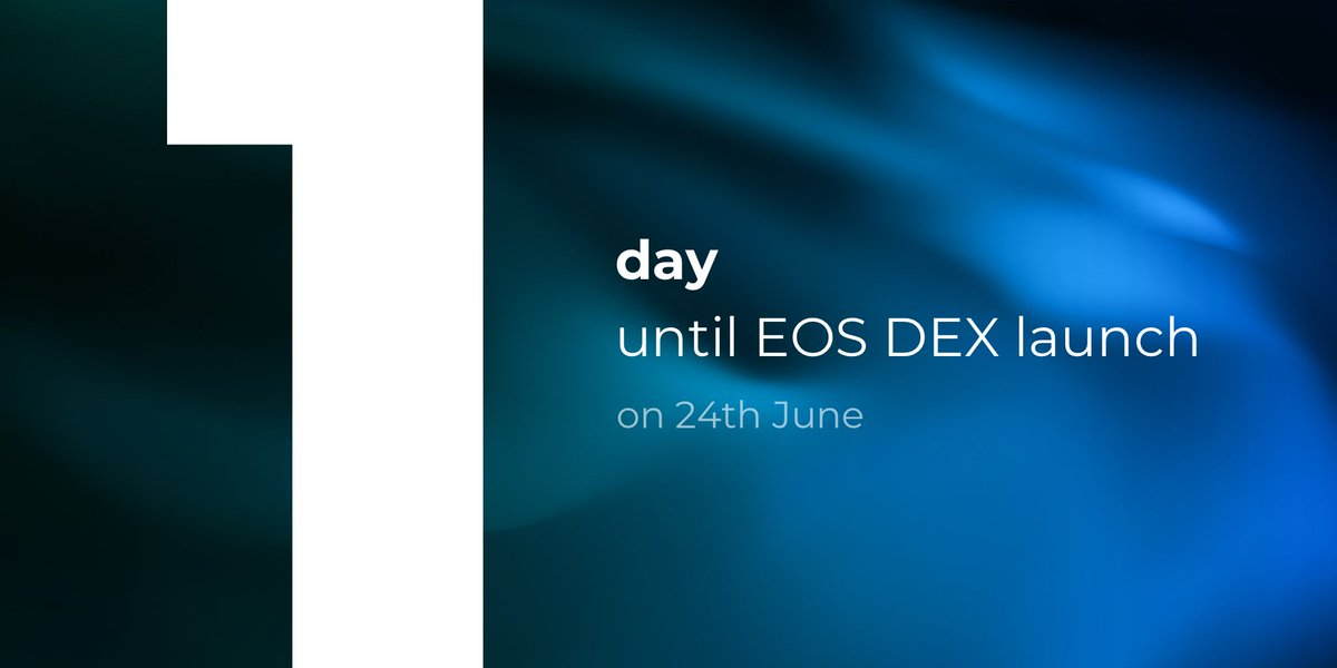 It's happening tomorrow - 1️⃣ day until the launch of http://token.store #EOS - EOS' first #trustless exchange ‼️  Enjoy 0% trading fees!  Read more here: https://medium.com/token-store/countdown-first-fully-trustless-exchange-to-launch-on-eos-24th-june-5ebf8171f84?postPublishedType=repub…  #DEX #TokenStore #DecentralizedExchange
