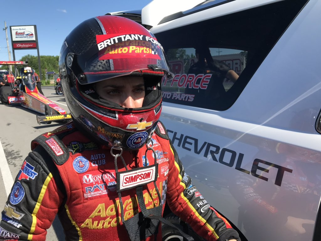 John Force Racing On Twitter Brittanyforce And The Advanceauto Team Are Headed To Round Two With A 3 735 Second Pass At 332 59 Mph That Was Uncontested After Lex Joon Failed To Take The