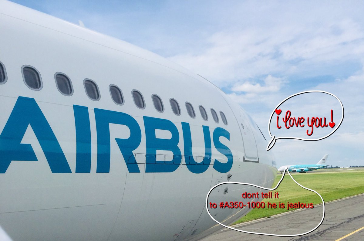 Love is in the Air #wemakeitfly @Airbus
