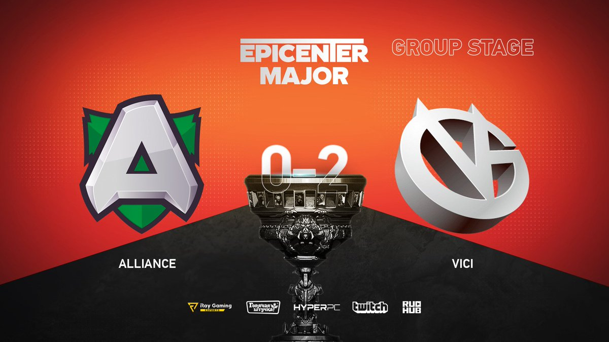 Alliance VS Vici Gaming EPICENTER Major 2019