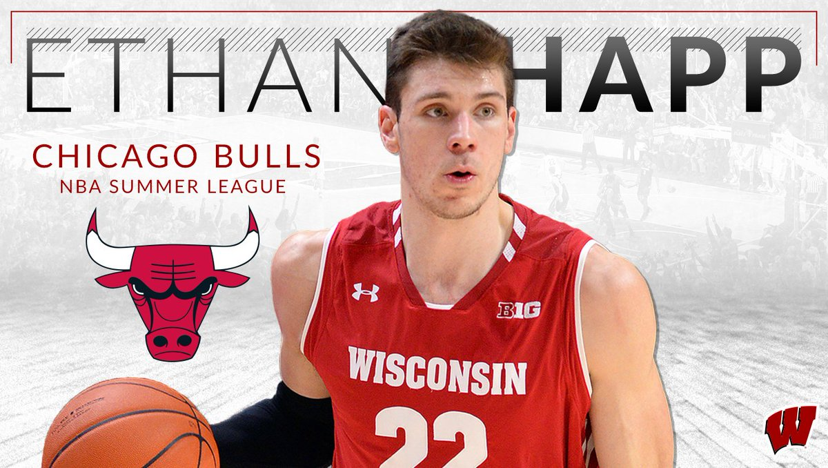 Chi-Town Badger   @EthanHapp22 will play for the Chicago Bulls in the NBA Summer League, July 5-15 in Las Vegas  #OnWisconsin // #ProBadgers<br>http://pic.twitter.com/IqwFg6dirN