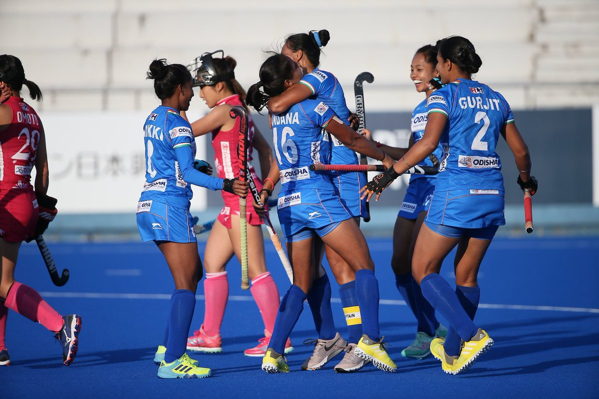 PROUD OF YOU GIRLS!! 🇮🇳 3-1 🇯🇵WELL DONE #TeamIndia !#Hockey🏑: Indian Women beat #Japan 3-1 in the summit clash to win International Hockey Federation (FIH) Series🏆 Finals in #Hiroshima.#IndiaKaGame #FIHSeriesFinals #RoadToTokyo #INDvJPN