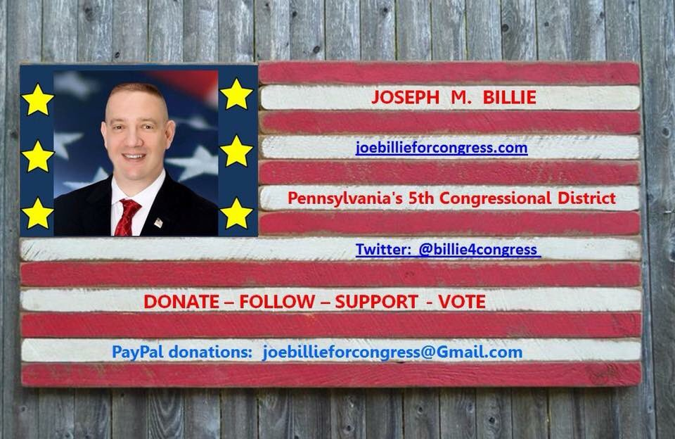 1st Sunday of Summer Challenge: $5 donation and get 5 friends to donate. This #AMERICAFIRST  Candidate needs your help to win PA5. Dem in office is Pelosi's puppet. Help me take this seat back. Can't do it without you. https://bit.ly/2JQyDHh