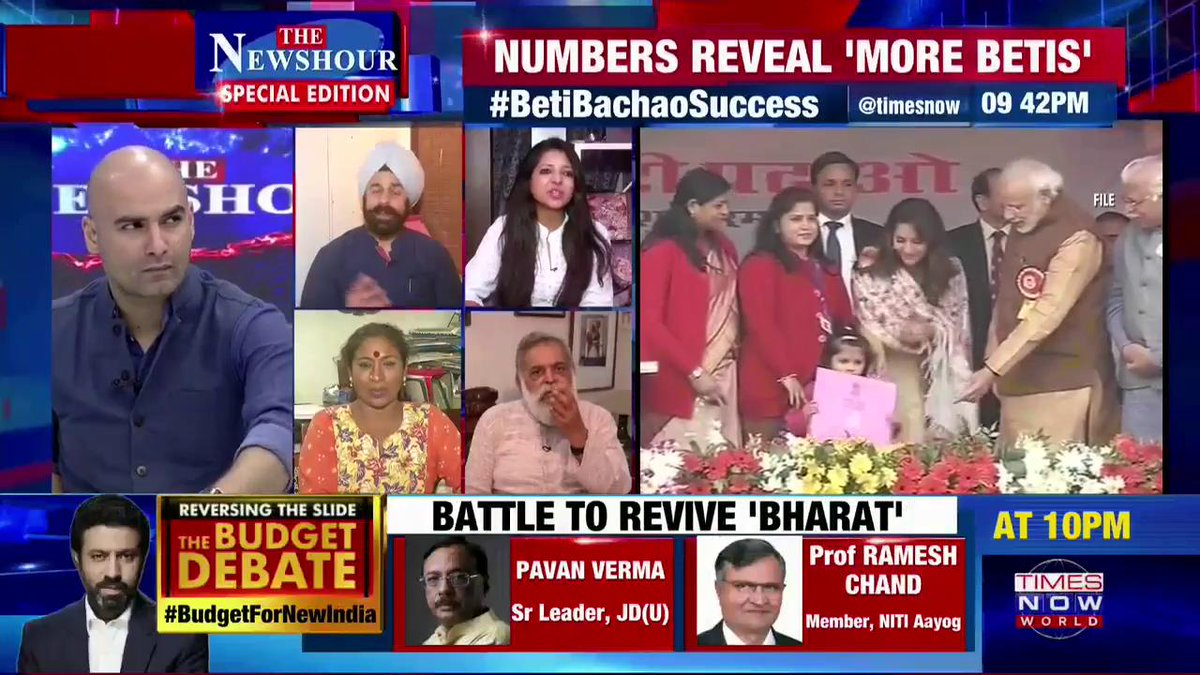 It's not merely one slogan, but there are more: @rpsinghkhalsa, BJP National Secretary, tells #AtharKhan on @thenewshour SPECIAL EDITION.   #BetiBachaoSuccess