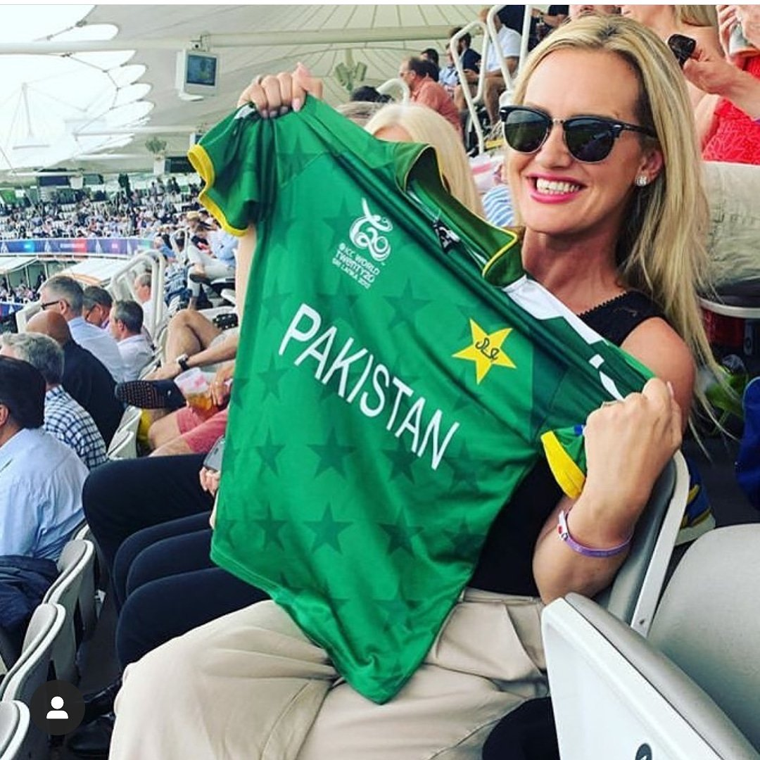 - @iamShaniera bhabi rooting for team green as always!! #Cricket #Pakistan
