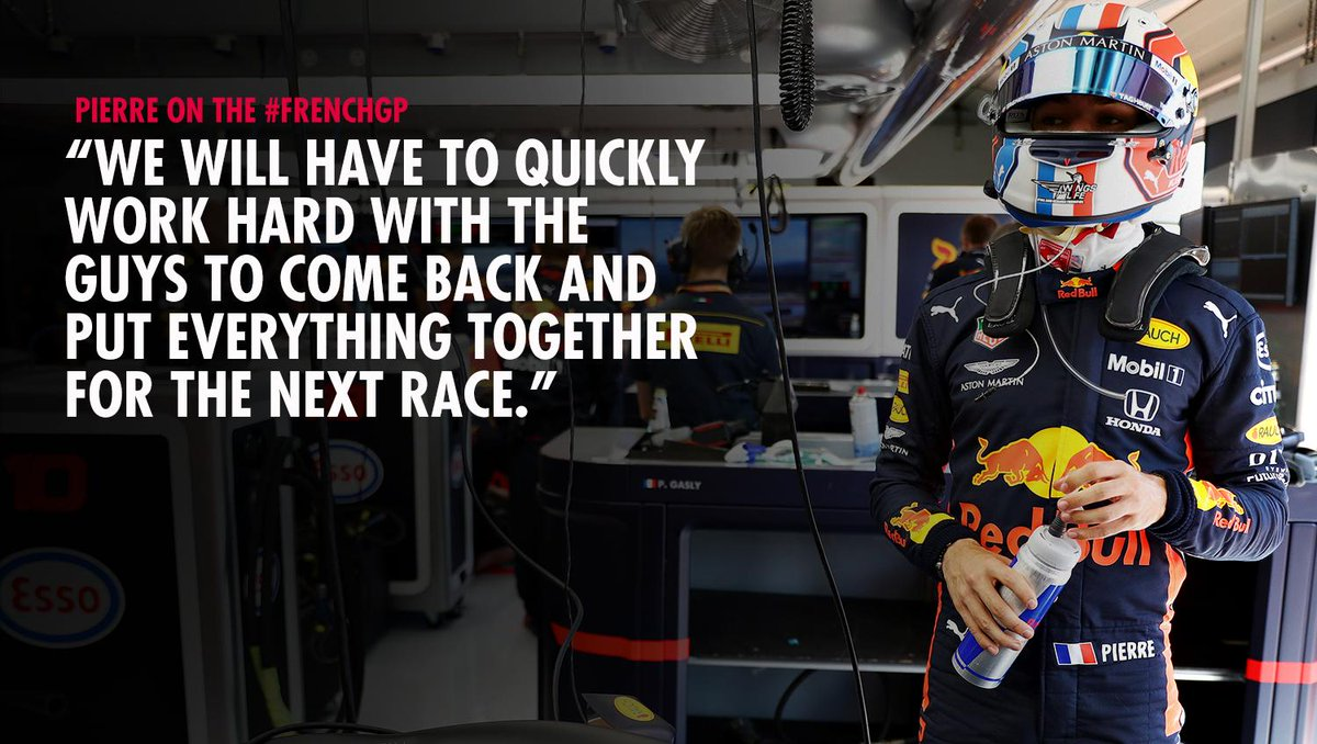 """🗣 """"It was a long, difficult day."""" @PierreGASLY on the #FrenchGP 🇫🇷👉 https://win.gs/FraRea19 #F1"""