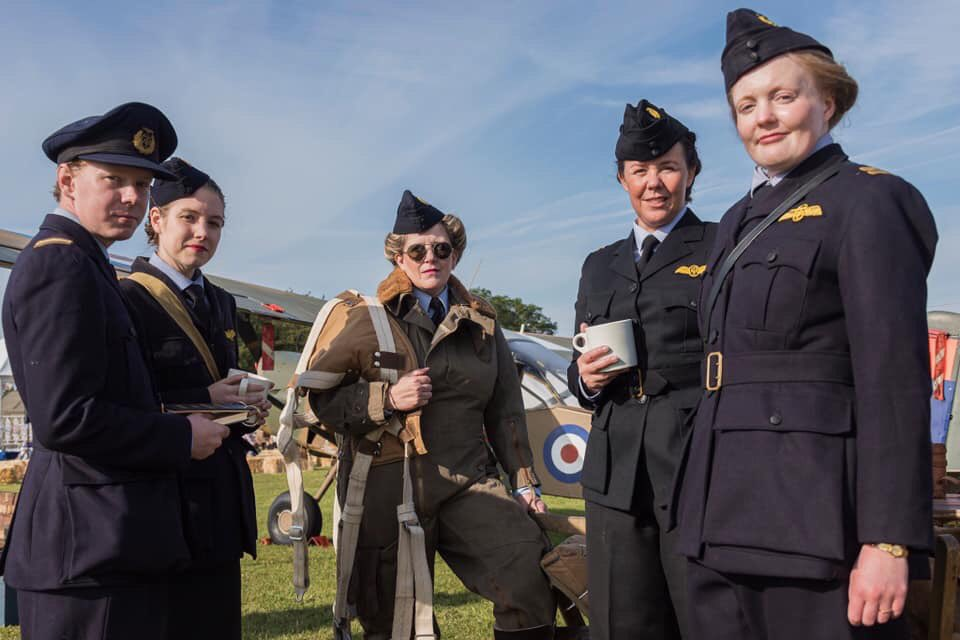 Oh My ! All credit to Simon Westwood a brilliant photographer, but look at these Air Transport Auxiliary depictions from RAF Cosford International Airshow @RAF_Cosford @cosfordairshow ✈️ keeping their story alive !!