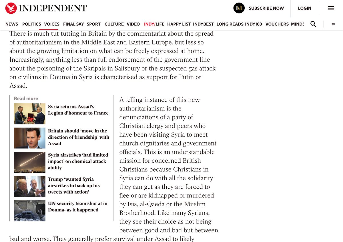 @PiersRobinson1 @joshua__frank @LouisProyect1 @NatCounterPunch Ironic you quote Patrick Cockburn, given the first quote I find by him mentioning Douma undercuts the aggressive Proyects stance. Also ironic you make such generalised and unspecific claims about Working Group briefings! Id urge you to read one before commenting further.
