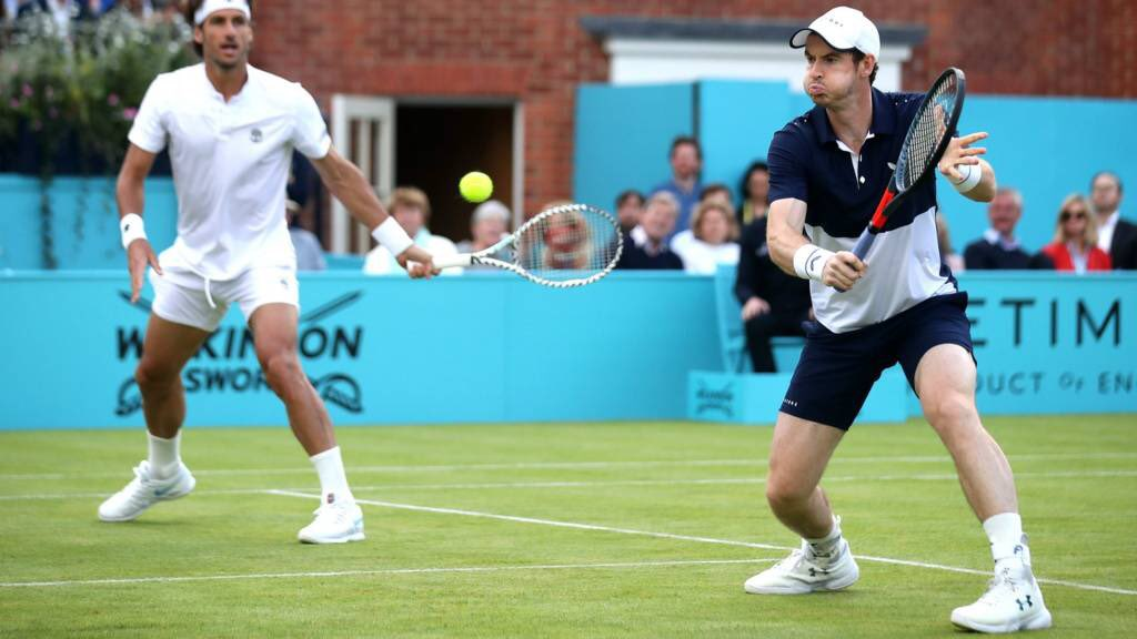 Dunblane's Andy Murray has won the #QueensClub doubles, alongside partner Feliciano Lopez.  It was Murray's first tournament since hip surgery in January  <br>http://pic.twitter.com/FsJAsKW7XD