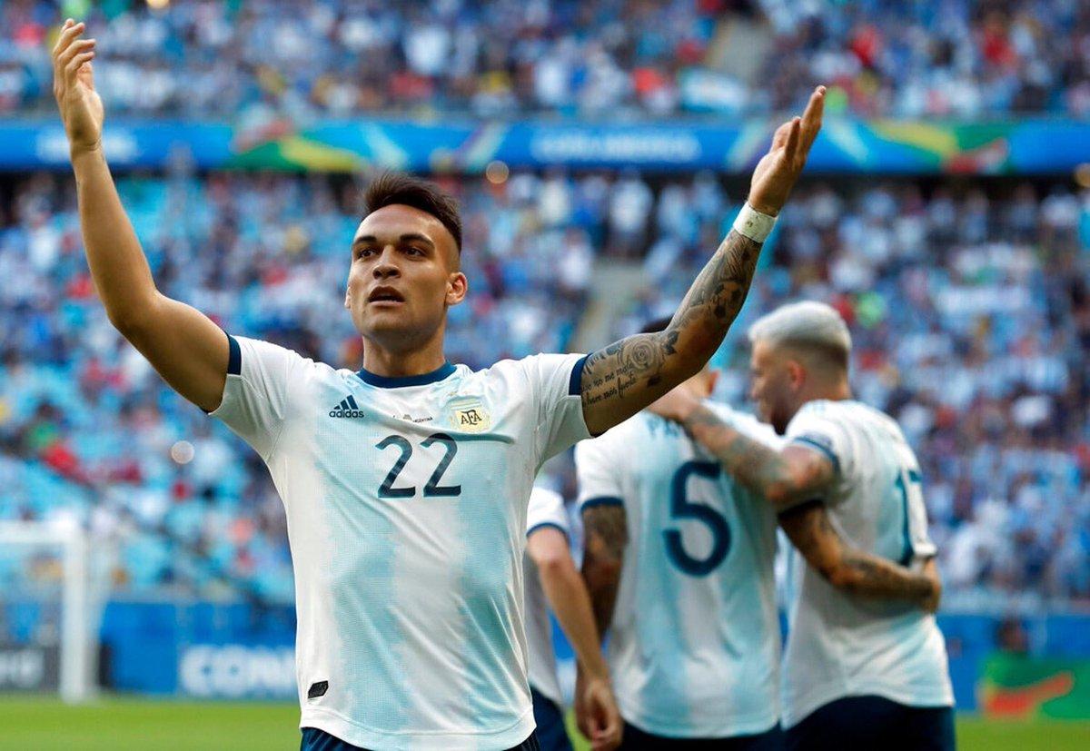 هدف الأرجنتين الأول في مرمى قطر بكوبا أمريكا