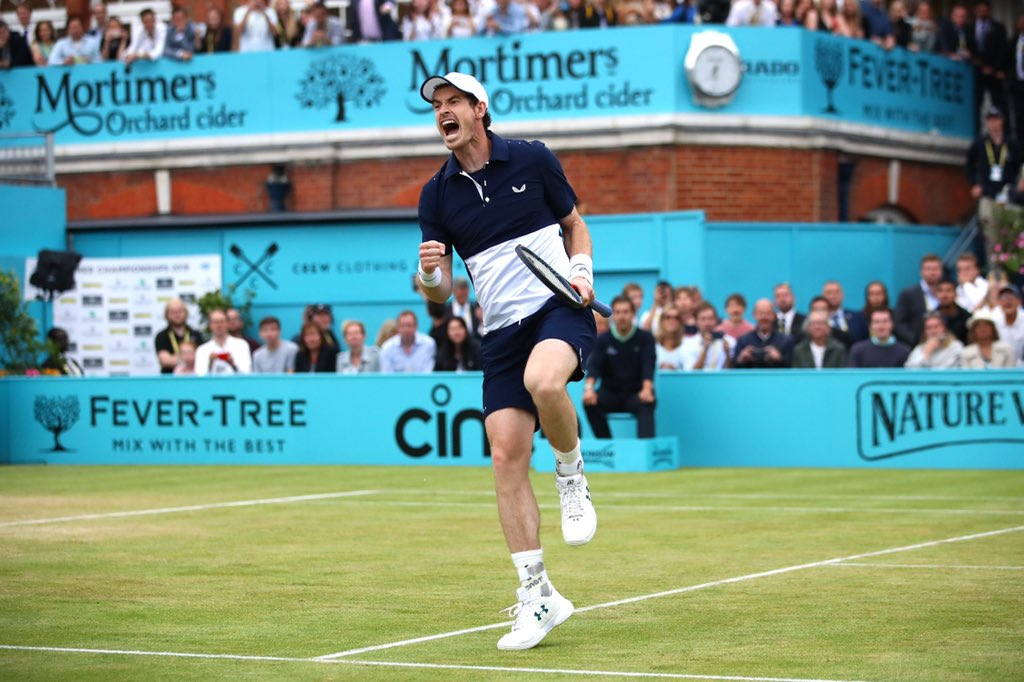 Congratulations to @Andy_Murray and @feliciano_lopez as they win the men's doubles at the #FeverTreeChampionships at @QueensTennis   Welcome back, Andy <br>http://pic.twitter.com/UWYrQEAkE4