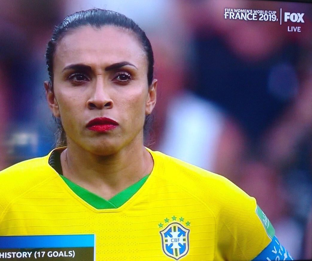 45 min and still on! Damn. I need this brand! #FIFAWWC2019 #Marta #Brazil
