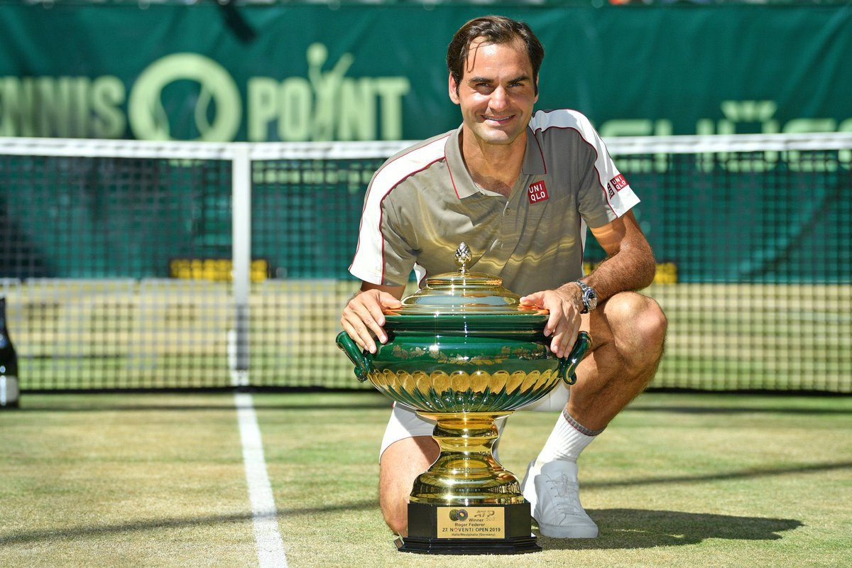 ✅10th Halle Title✅102nd Career Titles✅3rd ATP Trophy of the yearAge is just a number. Congrats Roger Federer 👏💪🙏