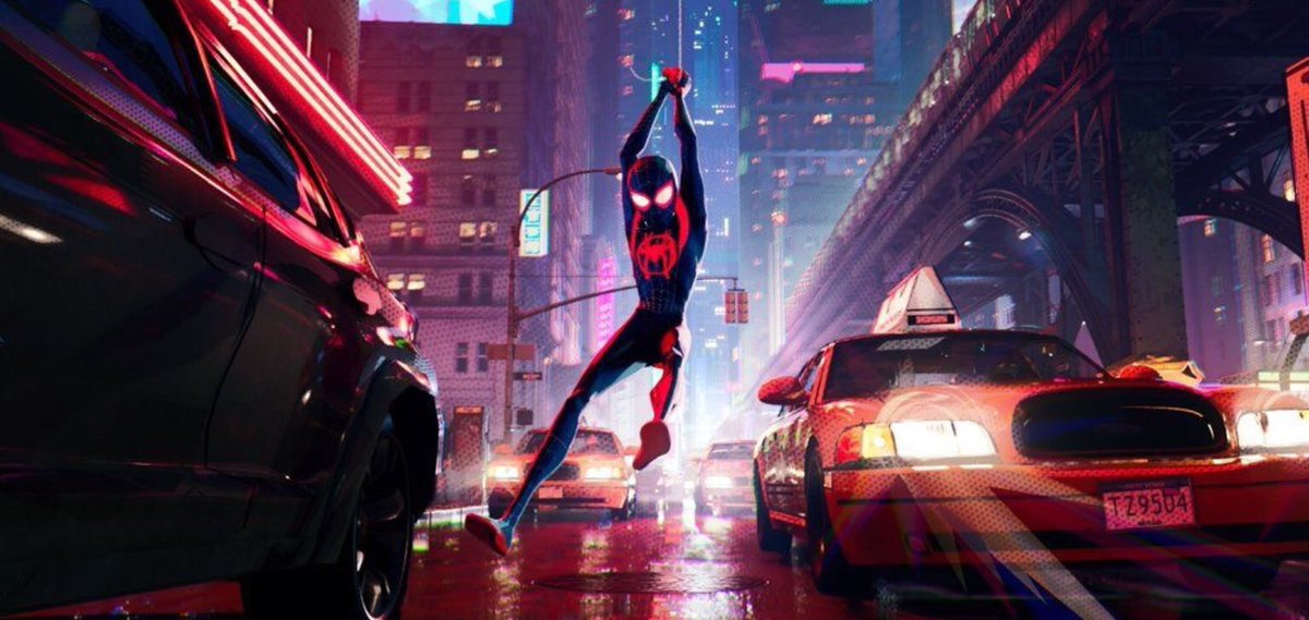spiderman into the spiderverse has the most breathtaking street aesthetic i have ever seen.