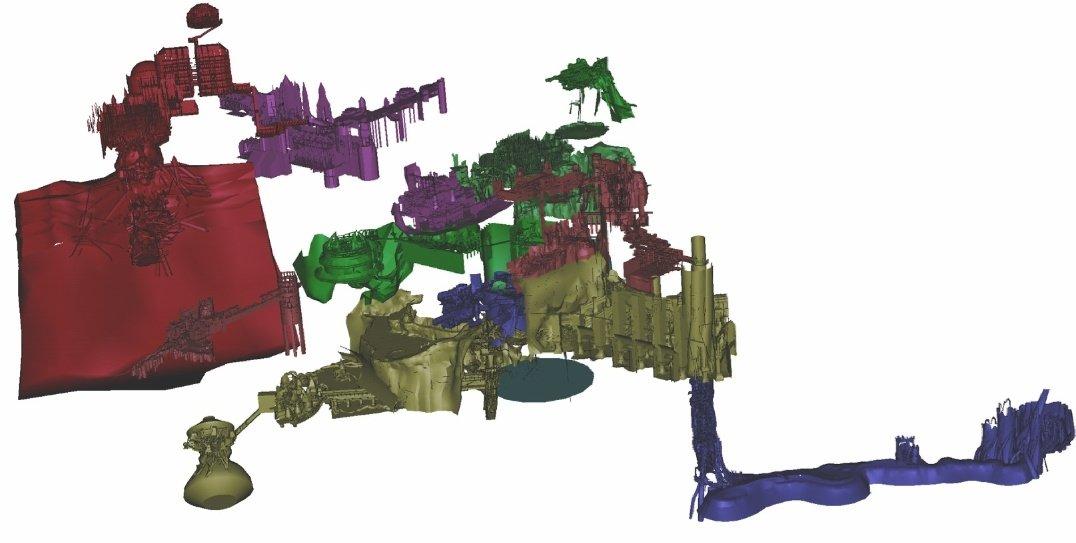 Esto es el mapa de Dark Souls 1 en 3D. Sé como el mapa de Dark Souls 1. Sé increíble.