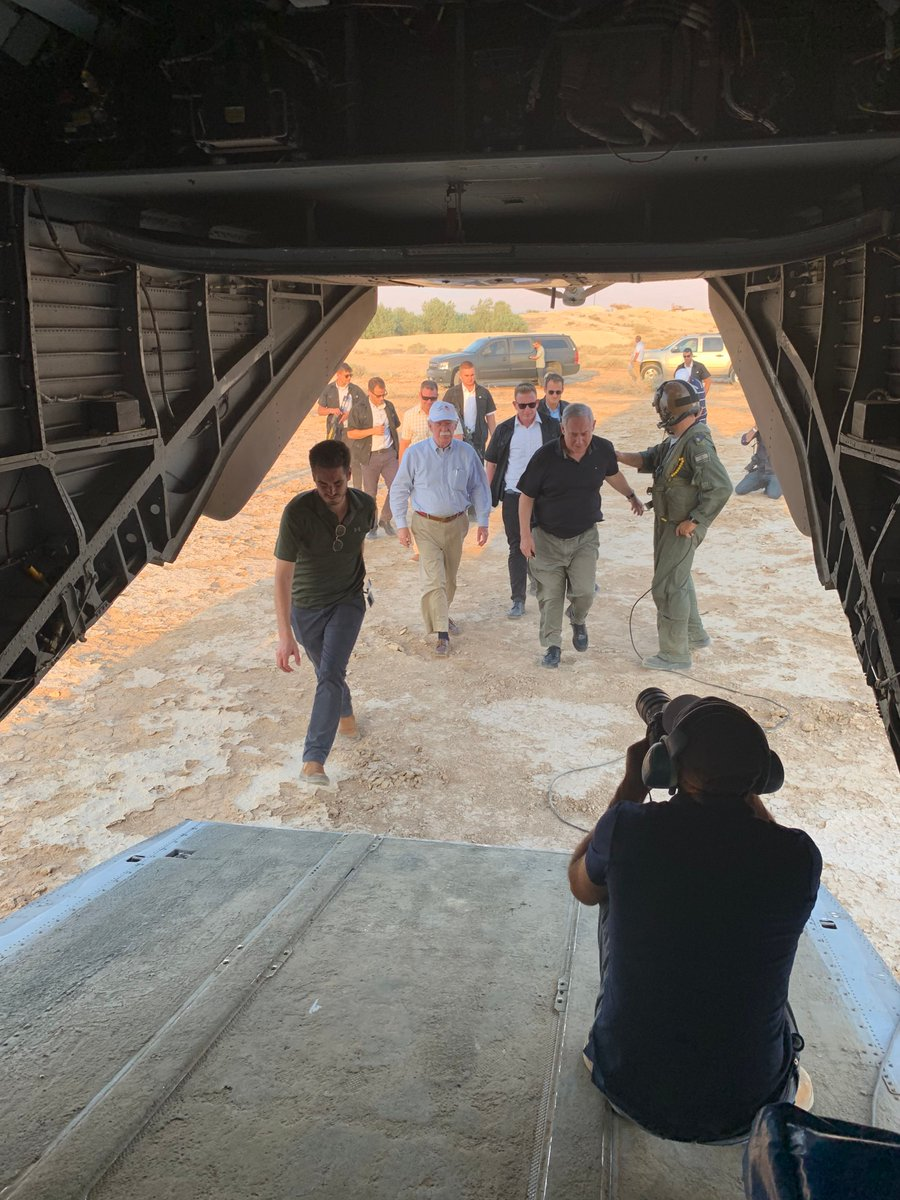 Today I visited the Jordan Valley and Jordan River with PM @netanyahu, Israeli NSA Meir Ben-Shabbat, @USAmbIsrael, & @AmbDermer. I saw firsthand the strategic importance that these locations have on Israels national security. (1 of 3)