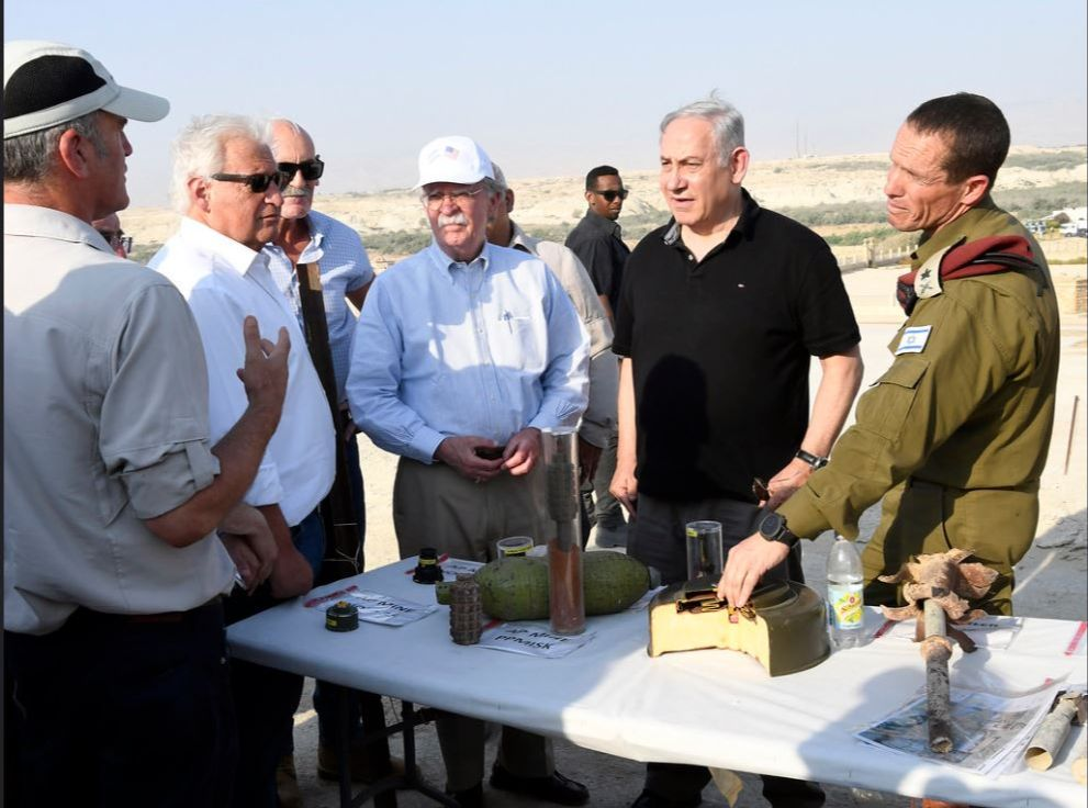 In similar acknowledgement of the simple but profound reality that for Israel to defend itself, it cannot relinquish strategic ground along its border, the President in March, signed a proclamation recognizing Israeli sovereignty over the Golan Heights. (2 of 3)