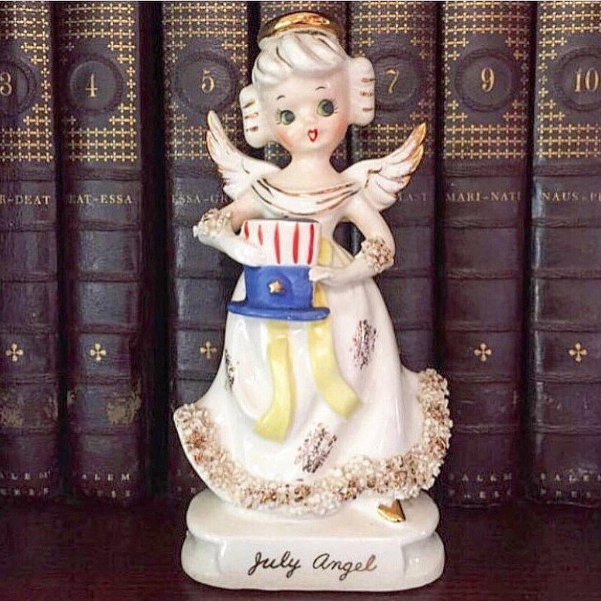 https://etsy.me/2WWwhOK All you #July babies, are ya getting ready to live it up?This pretty lil miss is!🇺🇸🥳#etsyfinds #etsyvintage #vintage #vintagehome #gotvintage #julybirthday #julybaby #birthdayangel #angelofthemonth #julyangel #ceramicangel #porcelainangel #angelfigurine