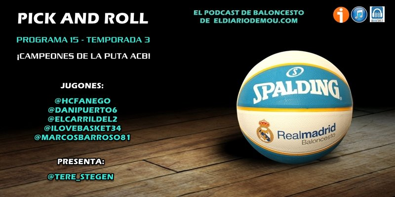 "Podcast 3x15 #PickAndRoll  ""Campeones de la puta ACB""  @ivoox: https://www.ivoox.com/3x15-campeones-puta-acb-audios-mp3_rf_37478023_1.html … …  @eldiariodemou: http://eldiariodemou.com/2019/06/podcast-3x15-campeones-de-la-puta-acb/ … …  @ApplePodcasts: https://podcasts.apple.com/us/podcast/el-diario-de-mou/id1156443844 … …  @SpotifySpain: https://open.spotify.com/show/0VdwrFw5UYT2Do7S761y5y … …  @AbbcastSound: https://abbcast.com/audio/podcast/el-diario-de-mou/el-diario-de-mou-pick-and-roll-3x15-campeones-de-la-puta-acb … …"