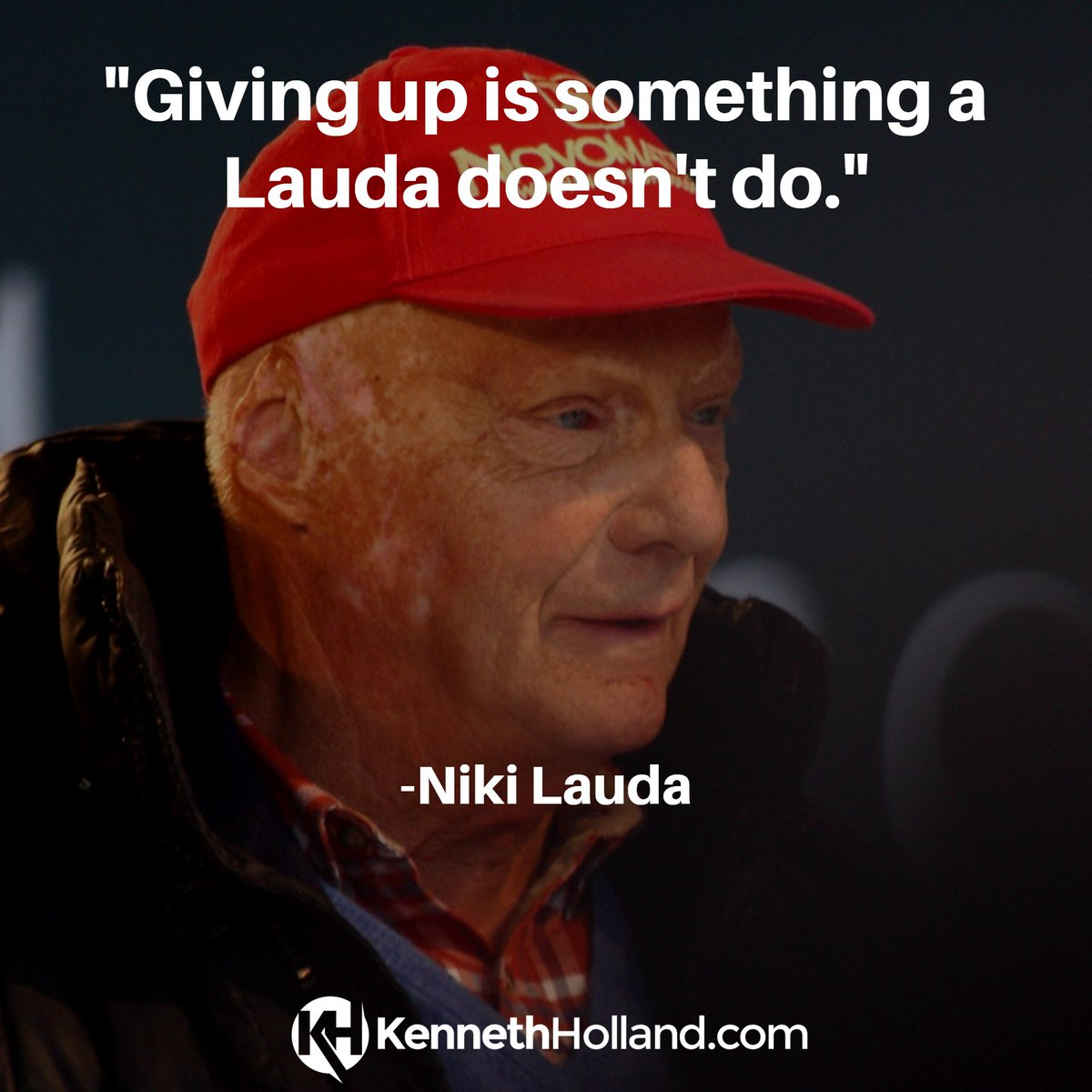 """Giving up is something a Lauda doesn't do."" #nikilauda #formula1"