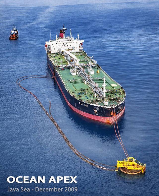 OCEAN APEX CRUDE OIL STORAGE TANKER IN ARJUNA FIELD, NORTH WEST JAVA SEA Property of Pertamina Hulu Energi ONWJ. - - - - Credit: erwinharia_petroimages Follow offshorejob_com - - - - #offshore #offshorelife #offshorelifestyl #oilrig #OilRigs #oilriglife #Anchor #oilandgas #sail