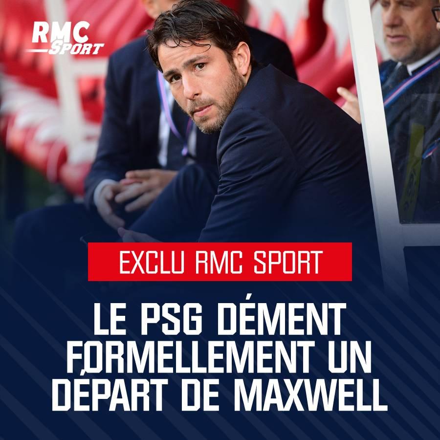 🚨 EXCLU RMC SPORT - Le PSG dément formellement le départ de Maxwell  ➡https://t.co/Qo9fOOOOVl https://t.co/AwD0CnvnzR