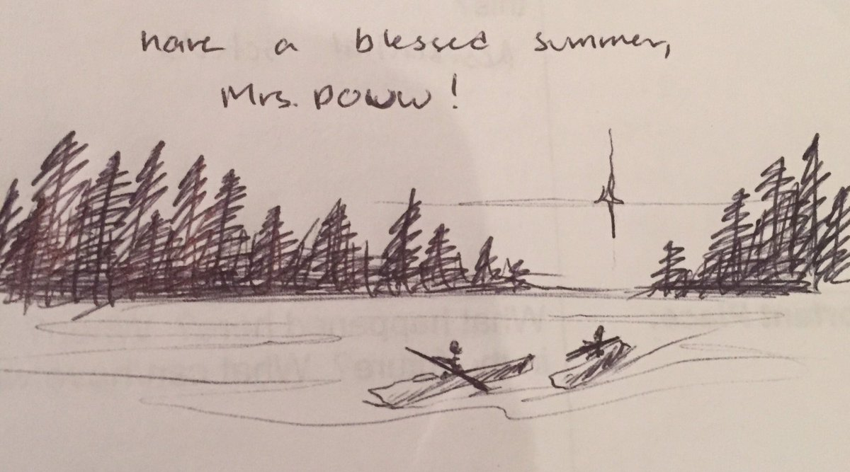 Found this little gem on the back of an exam I'm currently marking...#BlessedAndGrateful