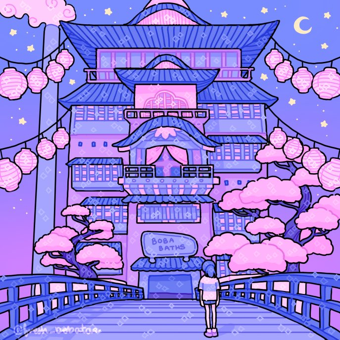 Emily On Twitter A Vaporwave Take On Spiritedaway
