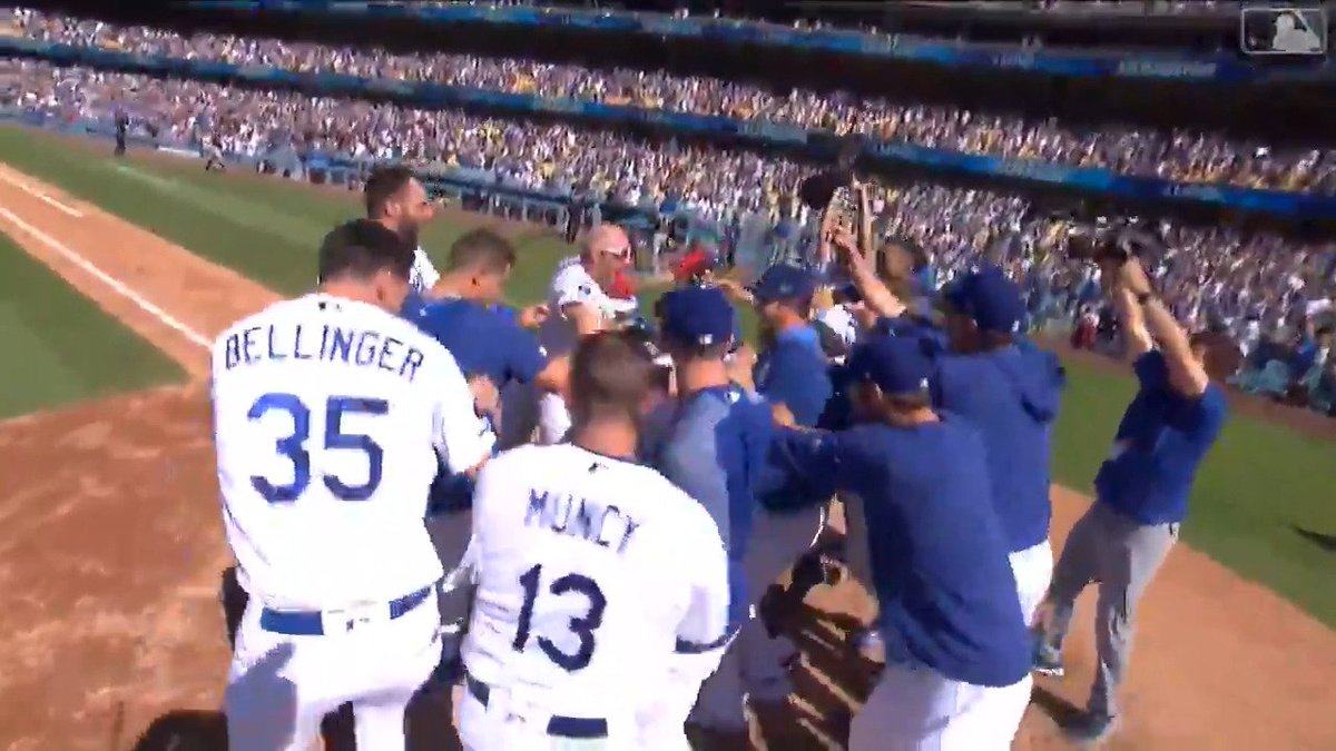 The @Dodgers are the first team in @MLB history to have rookies hit wa