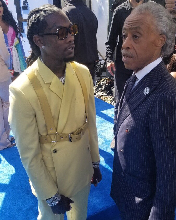On the 2019 #BETAwards red carpet with rapper @OffsetYRN.
