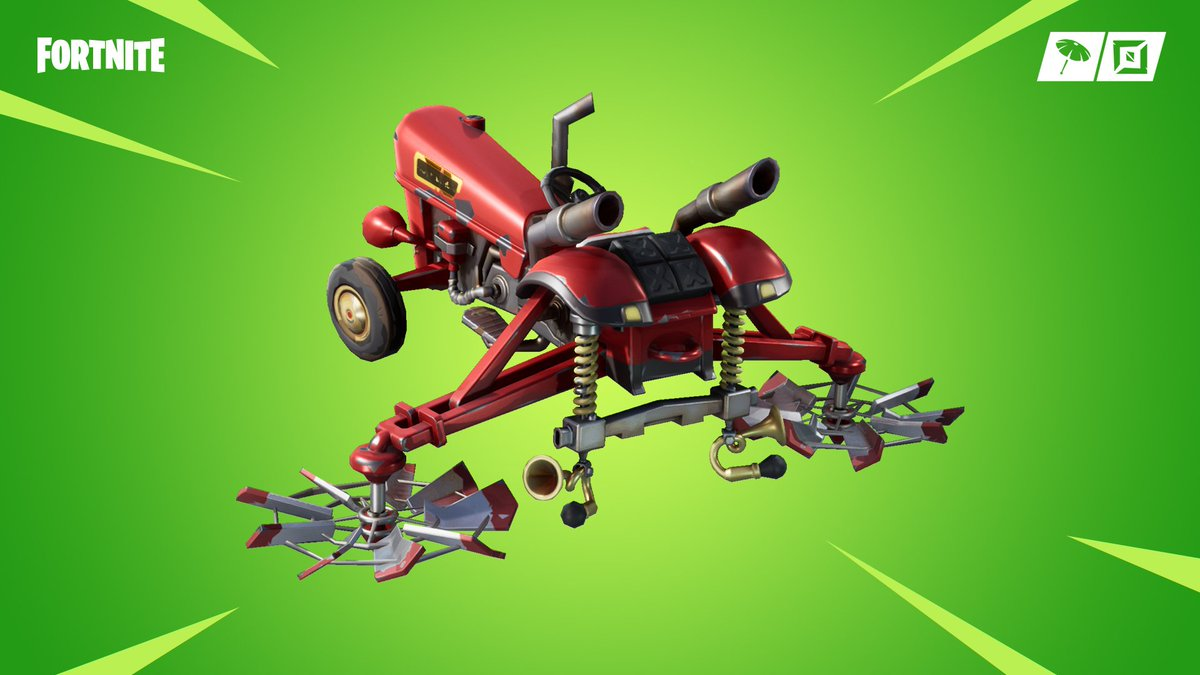 Prepare for the harvest. The Fatal Fielders Set with the new Crop Duster Glider is available in the Item Shop now!