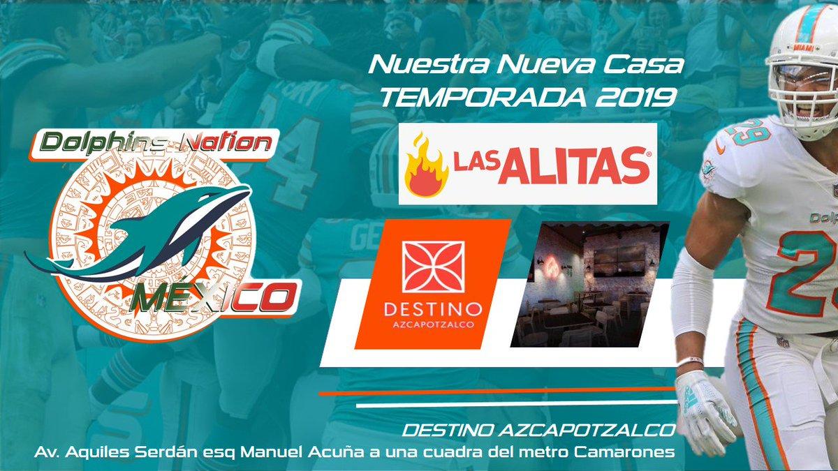Dolfans de la Ciudad de México #DNMCDMX tiene nueva sede para la temporada 2019, sera en Las Alitas sucursal Destino Azcapotzalco. #FinsUp. #VivenSuPasion. #NuevaSede #LasAlitas #Juntense! @wingalesio