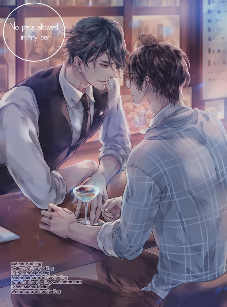 #JinHuiBing & #LanNuoMi modern AU #金惠彬 #蓝糯米 现代paro As Dae setting HuiBing will be bartender NuoMi is a university student come from country side, part time workingthe sparrow follow him from his hometown Got permission from @daedawdaw to draw his OC HuiBing modern AU :D<br>http://pic.twitter.com/q05vq9zyg3