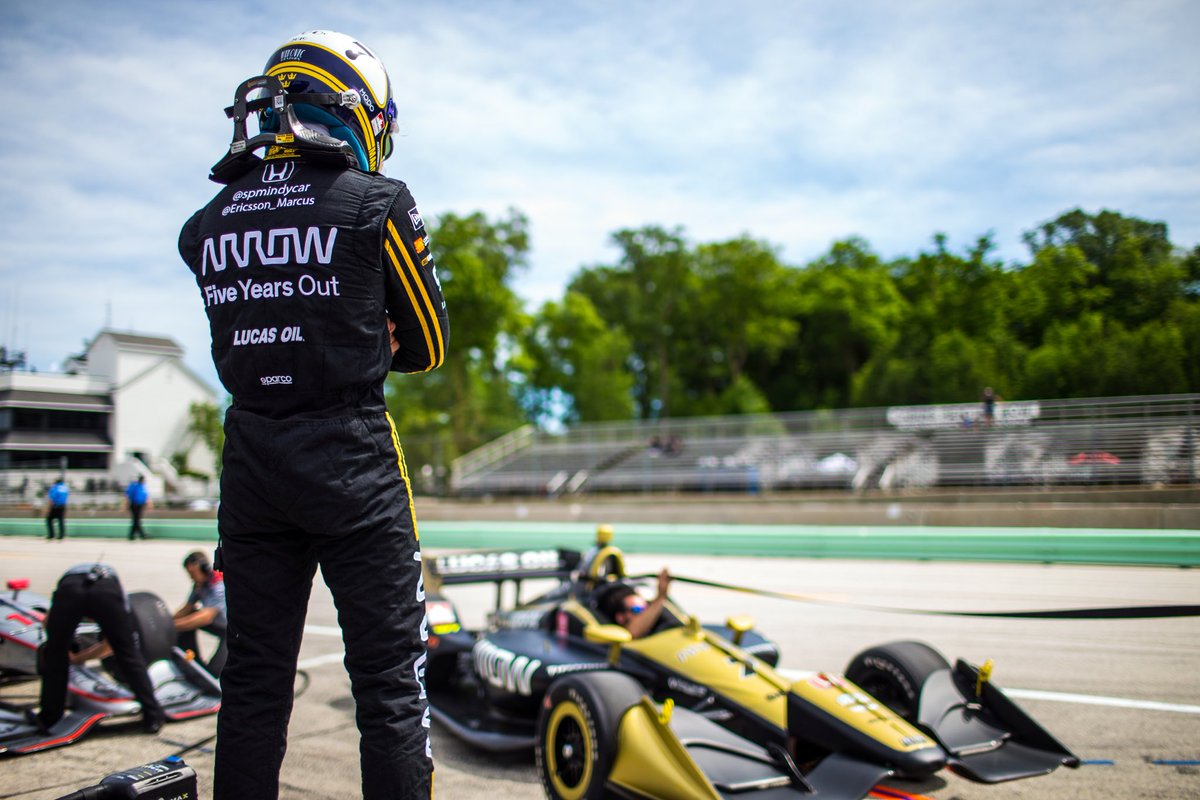 Not our weekend in @roadamerica . Had a difficult first part of the race and after that it was an uphill battle. Still pushed everything I got out on track and did some great overtakes on my way to 13th at the 🏁 #ME7  #INDYCAR