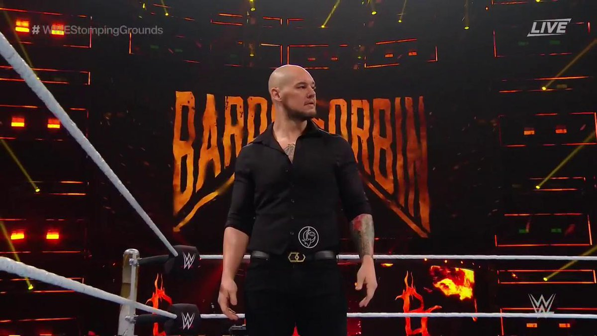 "Give it up for ""Tacoma's Favorite Son"" @BaronCorbinWWE! #WWEStompingGrounds"