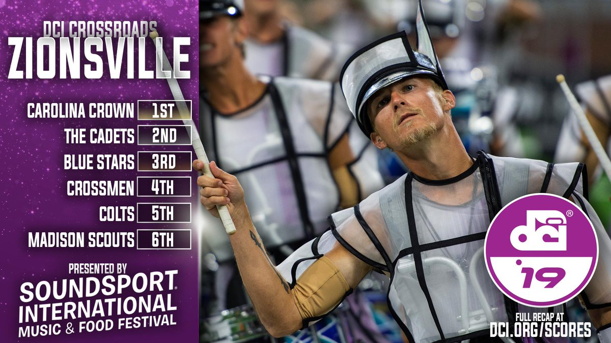 Colts made moves Sunday night in Zionsville.   📈: https://t.co/HOhbt2gXyF  #DCI2019 | @SoundSport https://t.co/oTmPmwqPGd