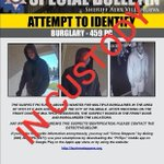Image for the Tweet beginning: **Update** The burglary suspect pictured