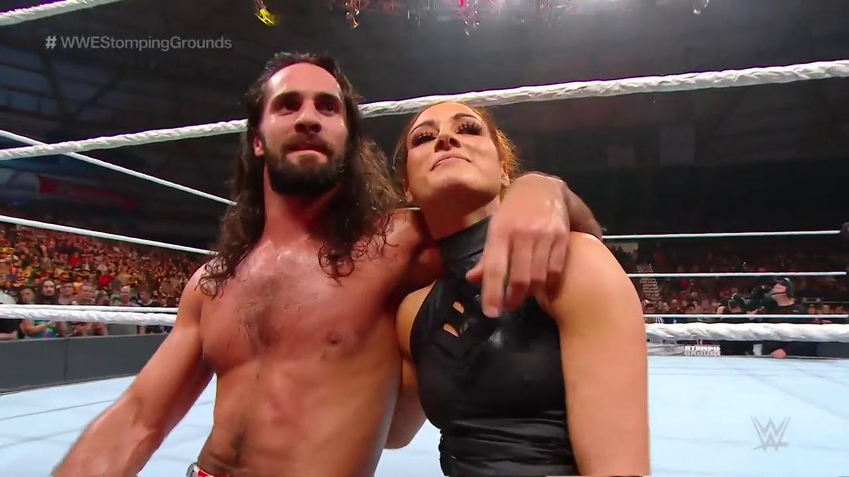 Go ahead, #BreakTheInternet, you two. #WWEStompingGrounds @WWERollins @BeckyLynchWWE