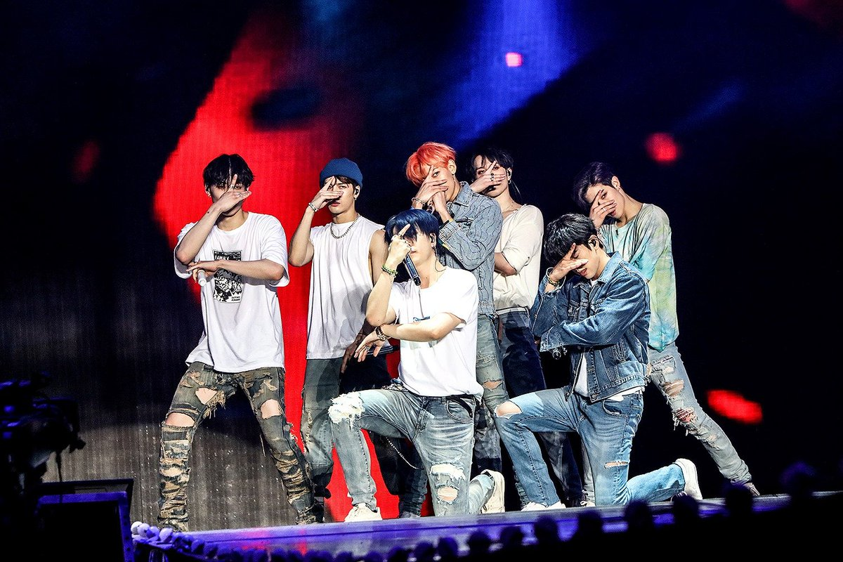 Don't look directly at #MondayMorning - if we dont make eye contact - its not really there! @GOT7Official thanks for showing us how its done! @GOT7Official take over @qudosbankarena This August! #GOT7  #GOT7_KEEPSPINNING  #GOT7_SPINNINGTOP <br>http://pic.twitter.com/IM0ba4FdIN