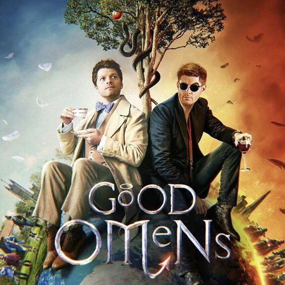 A gold medal & all my adulation to the first SPN fan to pull off a photo op recreating this pose - Misha w cup & saucer, Jensen w glasses & wine. Show them the photo & have them do those expressions!(The fan can be cosplaying as the tree )<br>http://pic.twitter.com/qRefHpIzLo