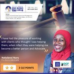 Image for the Tweet beginning: #ProBono Advocate Nakalanzi Nuru