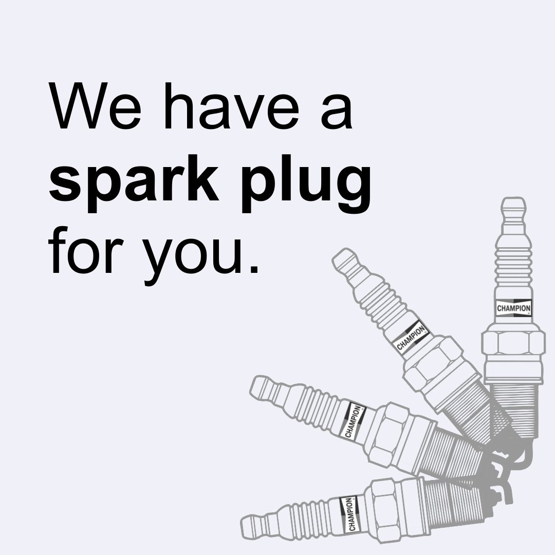 "Champion offers, ""World's favorite spark plugs ."" Know more about these at https://t.co/vje2vVgdeD  #ChampionParts https://t.co/hAFm6rWYmL"
