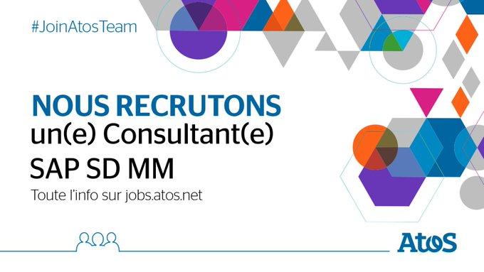[#Job] Nous recrutons un(e) Consultant(e) #SAP SD MM à #Bordeaux ! Rédaction des cahiers...