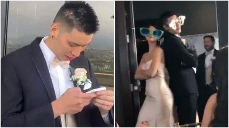 【影片】帥氣搶鏡!林書豪為訓練師當伴郎,婚禮上和漂亮伴娘搞怪互動!