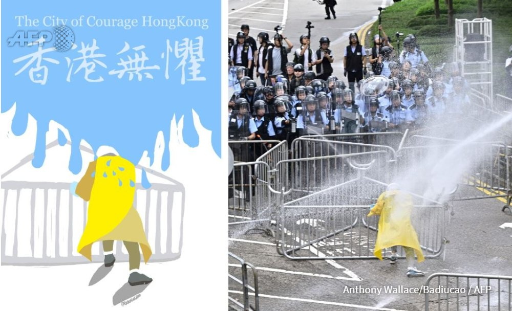 Artwork pummelling city leaders, clever word plays & Cantonese cursing that would make a sailor blush -- Hong Kongers have displayed a riotous embrace of satire during their huge anti-government protests. @yuenok & I enjoyed writing this for @AFP au.news.yahoo.com/memes-cartoons…