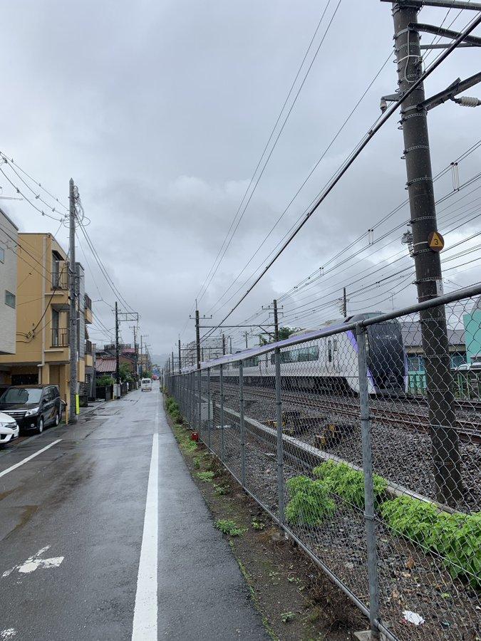 中央線の西八王子駅~高尾駅間で人身事故が起きた現場画像
