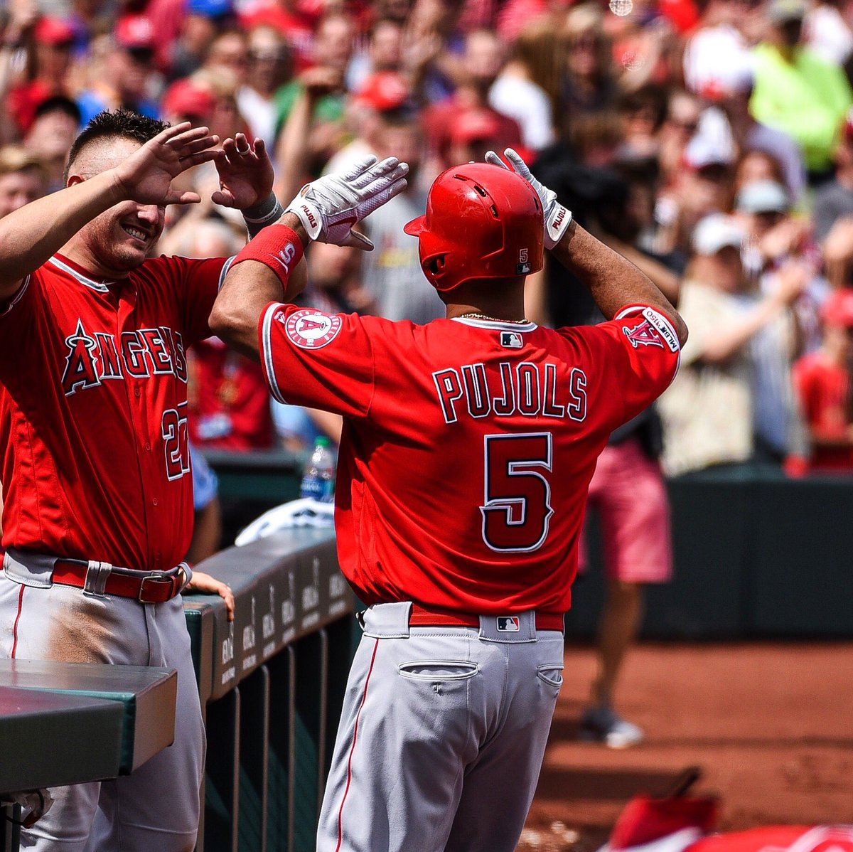 There's only one Albert Pujols. What a privilege it's been these last 3 days in St. Louis. #THEMACHINE!!