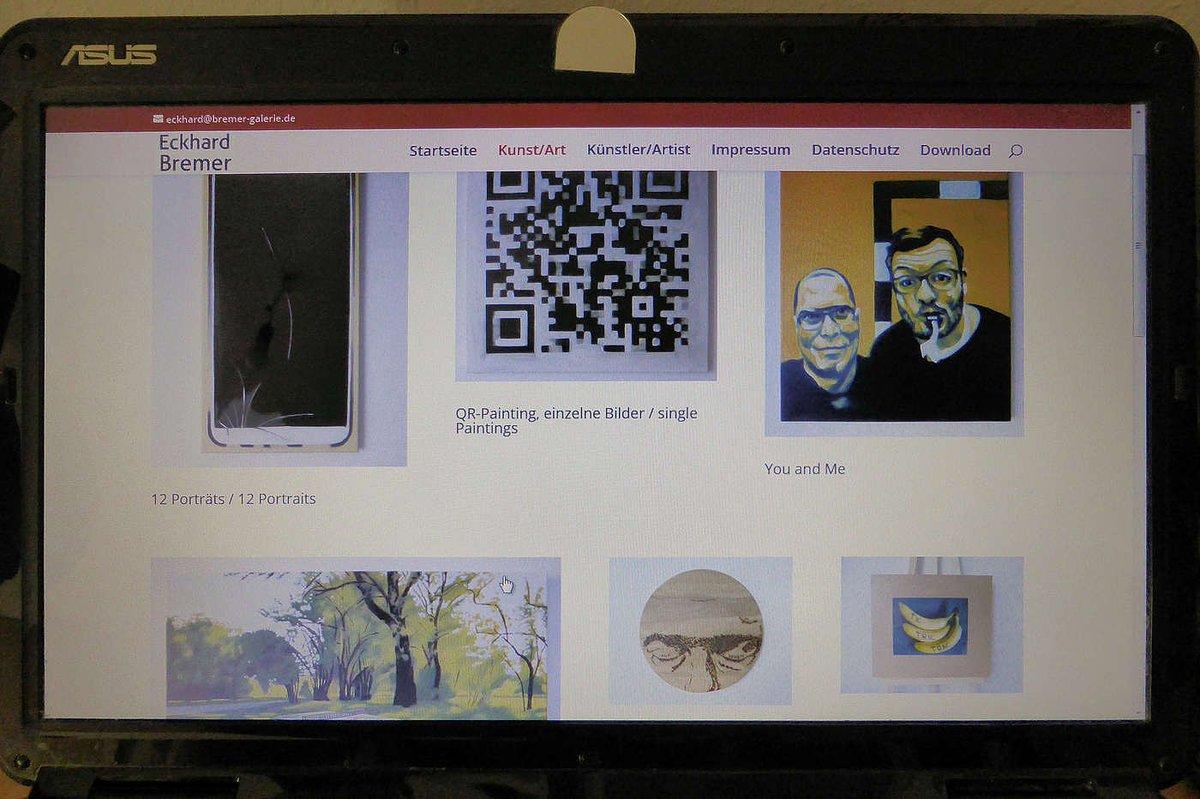My website is online again. Https://bremer-galerie.de also on: Https://instagram.com/eckhardbremer  #art #artwork #Selfie #kunst #painting #malerei #Promiselfie #dortmund #socialmediapainting #socialmedia #handymalerei #eckhardbremerpic.twitter.com/dq0xAHg9G9