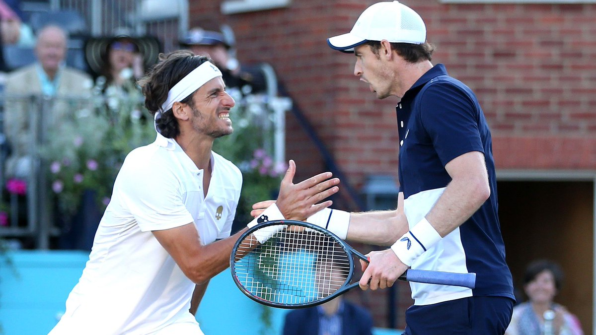 A buddy cop movie with Feliciano Lopez and Andy Murray. Somebody make this happen. #QueensClub <br>http://pic.twitter.com/7iA3Cc2kl3